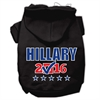 Mirage Pet Products Hillary Checkbox Election Screenprint Pet Hoodies Black Size XL (16)