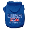 Mirage Pet Products Hillary Checkbox Election Screenprint Pet Hoodies Blue Size S (10)
