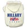 Mirage Pet Products Hillary Checkbox Election Screenprint Pet Hoodies Cream Size L (14)