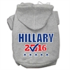 Mirage Pet Products Hillary Checkbox Election Screenprint Pet Hoodies Grey Size XL (16)
