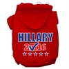 Mirage Pet Products Hillary Checkbox Election Screenprint Pet Hoodies Red Size XS (8)