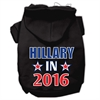 Mirage Pet Products Hillary in 2016 Election Screenprint Pet Hoodies Black Size L (14)