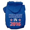 Mirage Pet Products Hillary in 2016 Election Screenprint Pet Hoodies Blue Size S (10)
