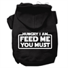 Mirage Pet Products Hungry I am Screen Print Pet Hoodies Black Size XXL (18)
