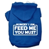 Mirage Pet Products Hungry I Am Screen Print Pet Hoodies Blue Size Lg (14)