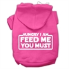 Mirage Pet Products Hungry I am Screen Print Pet Hoodies Bright Pink Size Med (12)