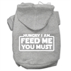 Mirage Pet Products Hungry I am Screen Print Pet Hoodies Grey Size XL (16)