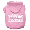 Mirage Pet Products Hungry I am Screen Print Pet Hoodies Light Pink Size Med (12)