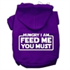 Mirage Pet Products Hungry I am Screen Print Pet Hoodies Purple Size Sm (10)