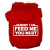 Mirage Pet Products Hungry I am Screen Print Pet Hoodies Red Size Sm (10)