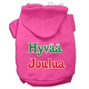 Mirage Pet Products Hyvaa Joulua Screen Print Pet Hoodies Bright Pink XXL (18)