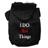Mirage Pet Products I Do Bad Things Screen Print Pet Hoodies Black XL (16)