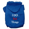 Mirage Pet Products I Do Bad Things Screen Print Pet Hoodies Blue XS (8)