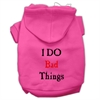 Mirage Pet Products I Do Bad Things Screen Print Pet Hoodies Bright Pink Size S (10)