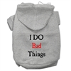 Mirage Pet Products I Do Bad Things Screen Print Pet Hoodies Grey XXL (18)