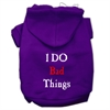 Mirage Pet Products I Do Bad Things Screen Print Pet Hoodies Purple Size XS (8)