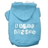 Mirage Pet Products I Have Issues Screen Printed Dog Pet Hoodies Baby Blue Size XL (16)
