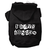 Mirage Pet Products I Have Issues Screen Printed Dog Pet Hoodies Black Size XL (16)