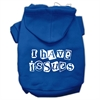 Mirage Pet Products I Have Issues Screen Printed Dog Pet Hoodies Blue Size XXL (18)