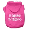Mirage Pet Products I Have Issues Screen Printed Dog Pet Hoodies Bright Pink Size XS (8)
