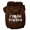 Mirage Pet Products I Have Issues Screen Printed Dog Pet Hoodies Brown Size Med (12)