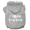 Mirage Pet Products I Have Issues Screen Printed Dog Pet Hoodies Grey Size XL (16)