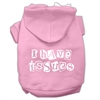 Mirage Pet Products I Have Issues Screen Printed Dog Pet Hoodies Light Pink Size Lg (14)
