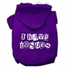 Mirage Pet Products I Have Issues Screen Printed Dog Pet Hoodies Purple Size XL (16)