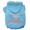 Mirage Pet Products I Heart Christmas Screen Print Pet Hoodies Baby Blue Size XS (8)