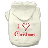 Mirage Pet Products I Heart Christmas Screen Print Pet Hoodies Cream Size Lg (14)
