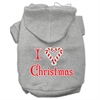 Mirage Pet Products I Heart Christmas Screen Print Pet Hoodies Grey Size XL (16)