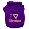 Mirage Pet Products I Heart Christmas Screen Print Pet Hoodies Purple Size XS (8)