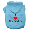 Mirage Pet Products I Love My Daddy Screen Print Pet Hoodies Baby Blue Size Med (12)