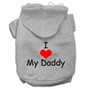 Mirage Pet Products I Love My Daddy Screen Print Pet Hoodies Grey Size XL (16)