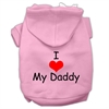 Mirage Pet Products I Love My Daddy Screen Print Pet Hoodies Pink Size XXXL (20)