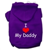 Mirage Pet Products I Love My Daddy Screen Print Pet Hoodies Purple Size XS (8)