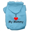 Mirage Pet Products I Love My Mommy Screen Print Pet Hoodies Baby Blue Size XS (8)