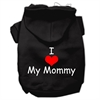 Mirage Pet Products I Love My Mommy Screen Print Pet Hoodies Black Size XS (8)