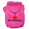 Mirage Pet Products I Love My Mommy Screen Print Pet Hoodies Bright Pink Size Sm (10)