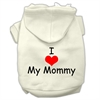 Mirage Pet Products I Love My Mommy Screen Print Pet Hoodies Cream Size XS (8)
