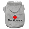 Mirage Pet Products I Love My Mommy Screen Print Pet Hoodies Grey Size XXL (18)