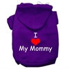 Mirage Pet Products I Love My Mommy Screen Print Pet Hoodies Purple Size XS (8)