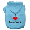 Mirage Pet Products I Love New York Screen Print Pet Hoodies Baby Blue Size Med (12)