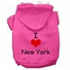 Mirage Pet Products I Love New York Screen Print Pet Hoodies Bright Pink Size Sm (10)