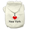 Mirage Pet Products I Love New York Screen Print Pet Hoodies Cream Size Sm (10)