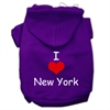 Mirage Pet Products I Love New York Screen Print Pet Hoodies Purple Size XS (8)