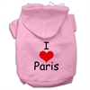Mirage Pet Products I Love Paris Screen Print Pet Hoodies Pink Size Lg (14)