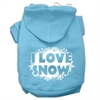 Mirage Pet Products I Love Snow Screenprint Pet Hoodies Baby Blue Size XXXL (20)