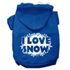 Mirage Pet Products I Love Snow Screenprint Pet Hoodies Blue Size Med (12)