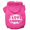 Mirage Pet Products I Love Snow Screenprint Pet Hoodies Bright Pink Size XS (8)